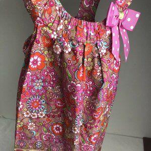 Bonnie Jean Girls Dress Jumper Pink Paisley 6X